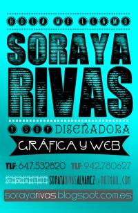 Tajeta de visita de Soraya Rivas